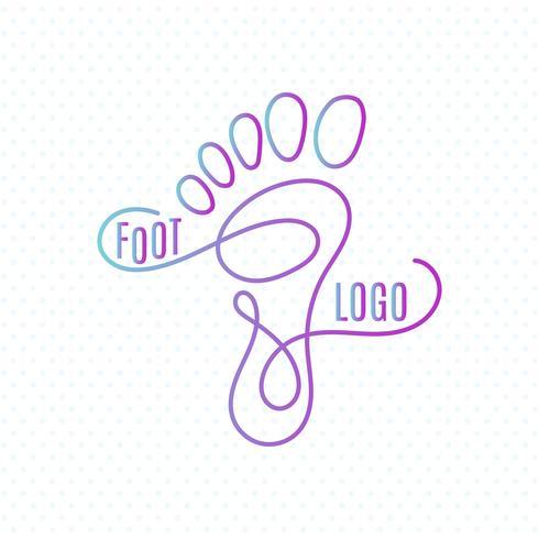Icône de signe d'empreinte humaine. Symbole aux pieds nus Silhouette de pied
