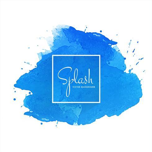 Splash blå akvarell bakgrund