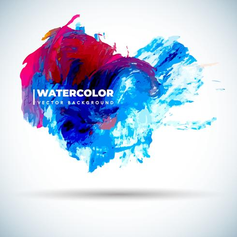 Colorful Grunge Watercolor Background