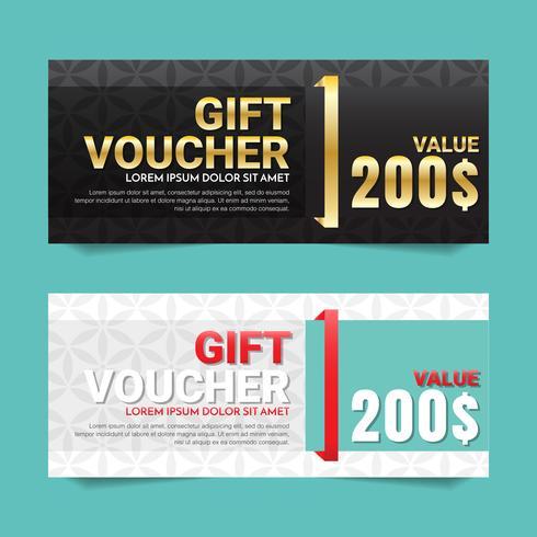 Geschenkgutschein Vektor Hintergrund