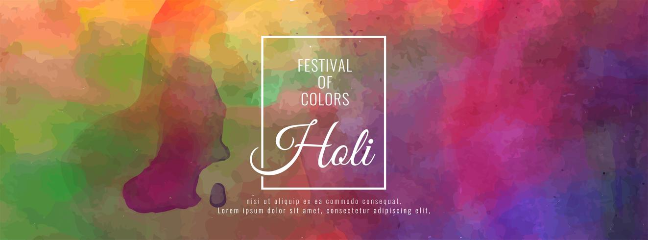 Abstract Happy Holi festival banner template