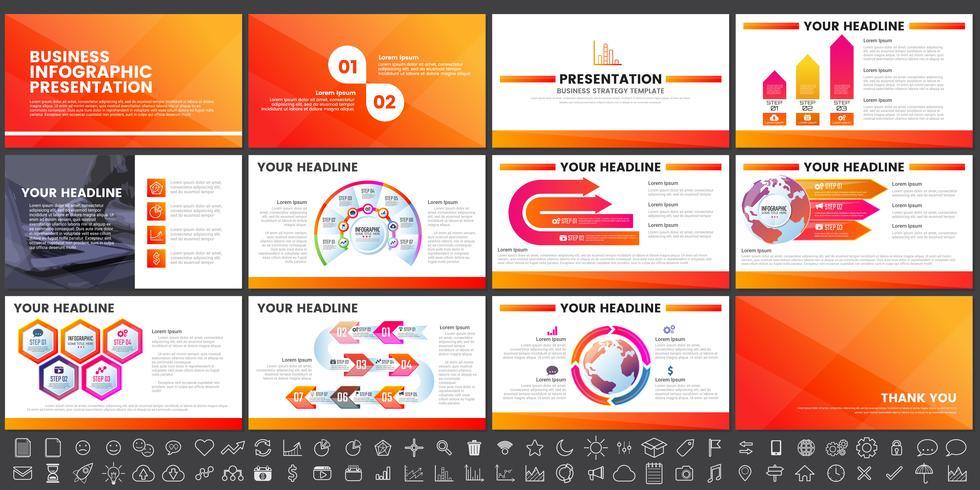 Elementi moderni di infografica per modelli di presentazioni per banner