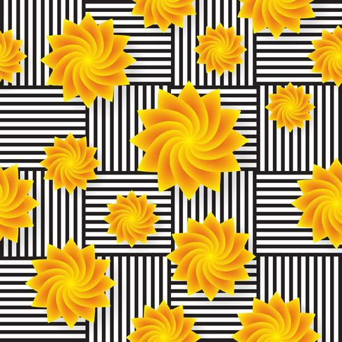 Naadloze bloem patroon Vector achtergrond