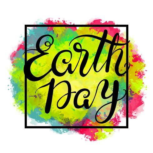 De zin aarde Dag. Belettering