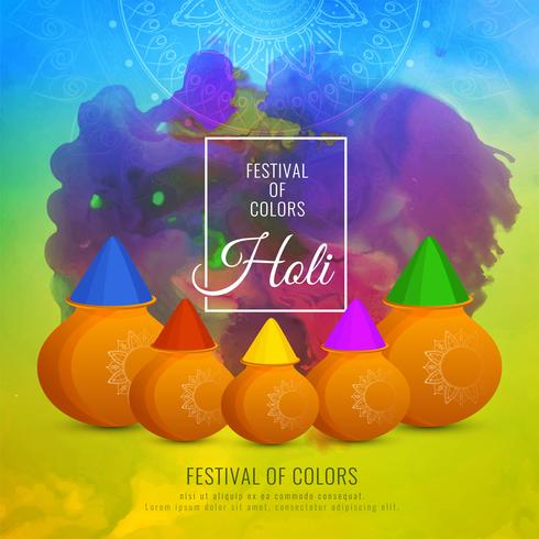 Abstract colorful Happy Holi background