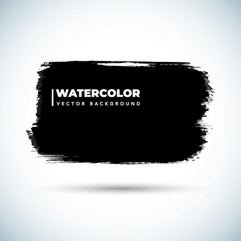 Grunge Black Watercolor Design