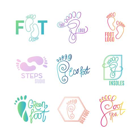 Logo of center of healthy feet. vector