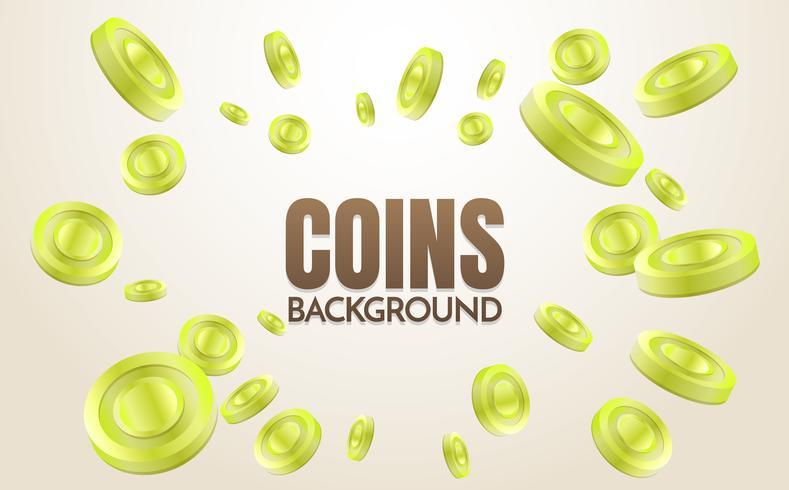 monedas de fondo plantilla vector
