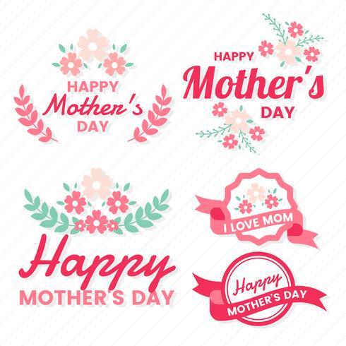 Mother Day Vector etikett för banner