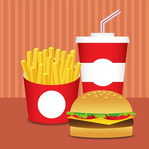 Conjunto de fast food