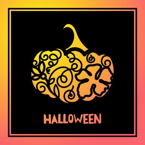 Laserschneiden-Schablonenkürbis für Halloween.