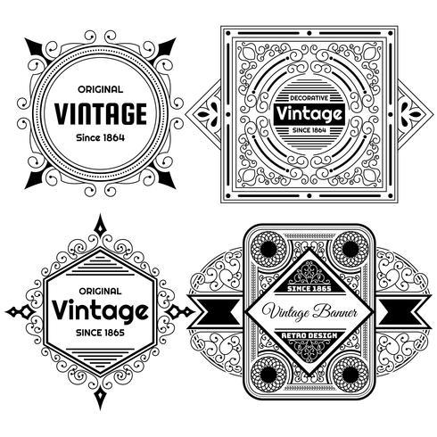 Plantilla de diseño de etiqueta de fondo vintage