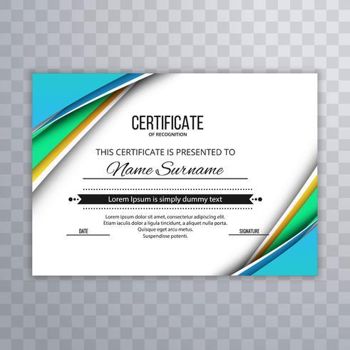 Abstract Certificate Premium awards diploma template design