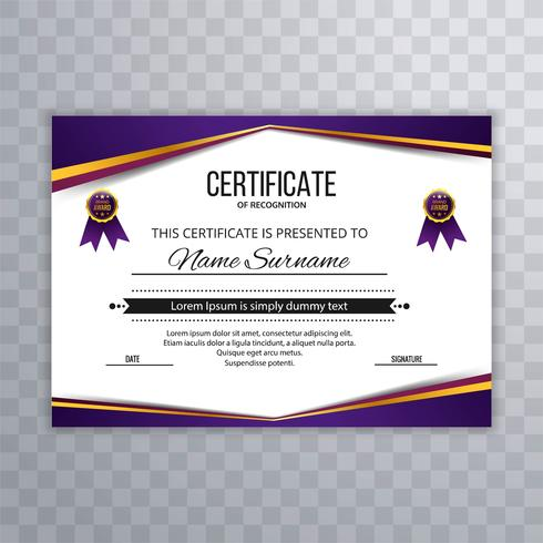 Abstract Certificate Premium awards diploma template design
