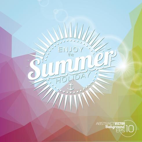 Vektor bakgrund på ett sommar semester tema.
