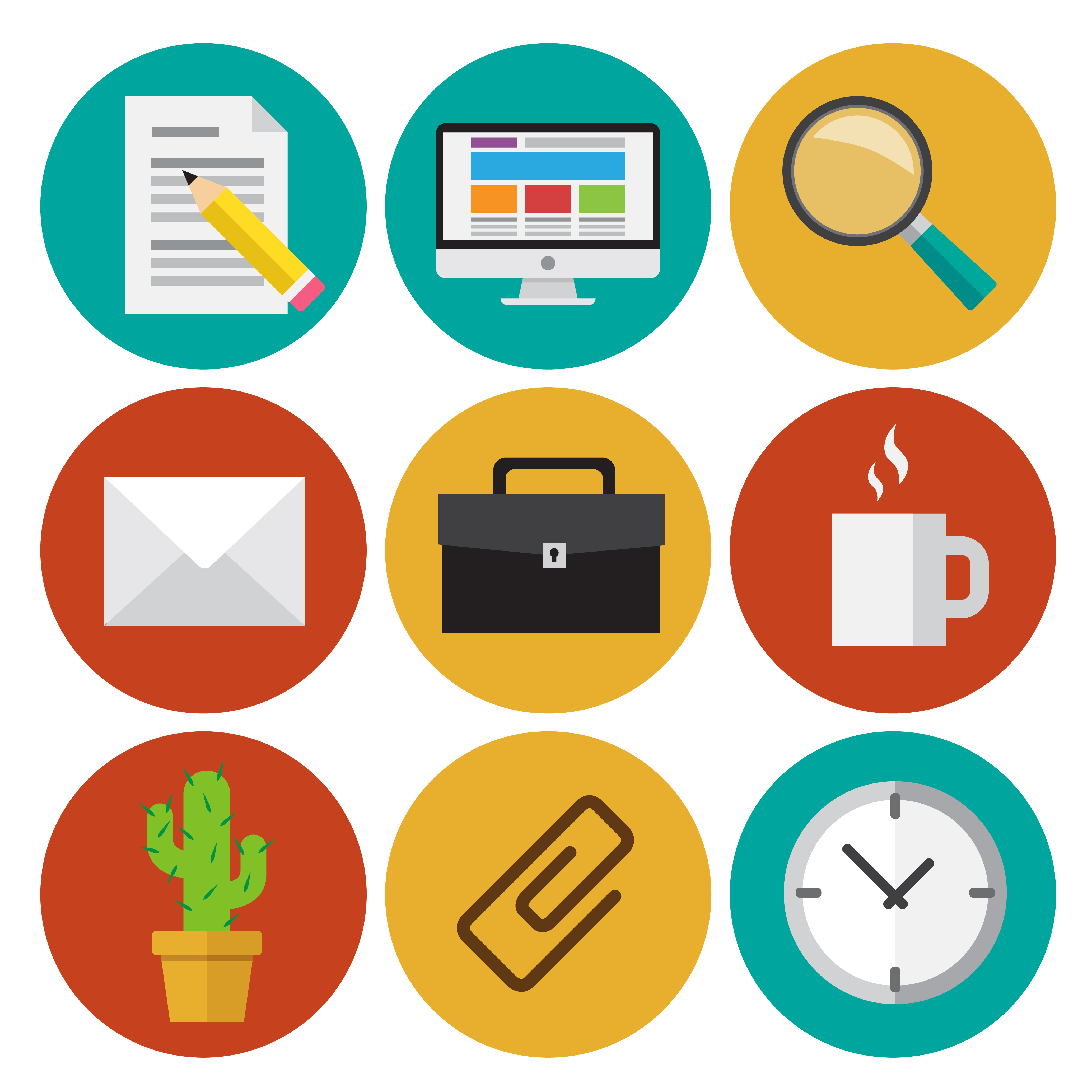 Office icons - Download Free Vectors, Clipart Graphics ...