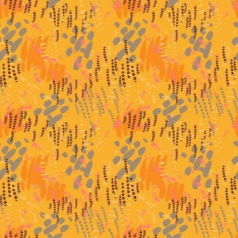 Safari pattern on striped background vector