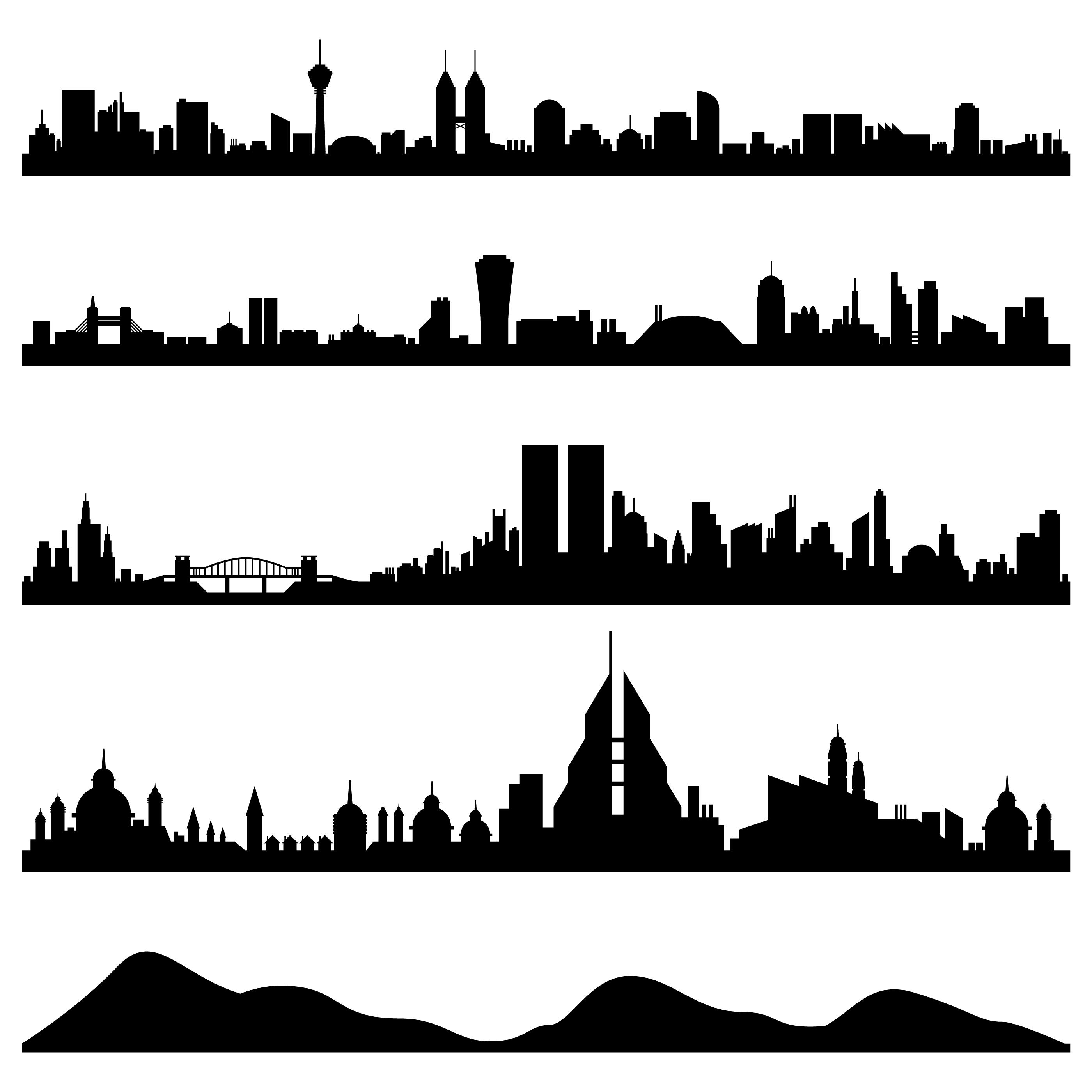 City Skyline Cityscape Vector. - Download Free Vectors ...