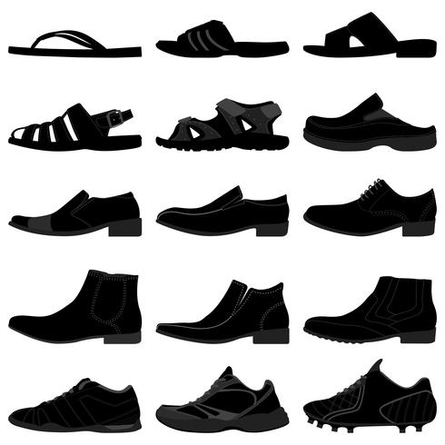 Male Footwear  vector