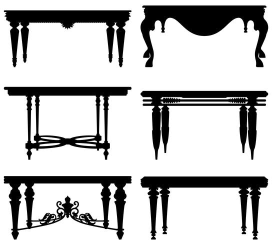 Tabela clássica antiga antiga.