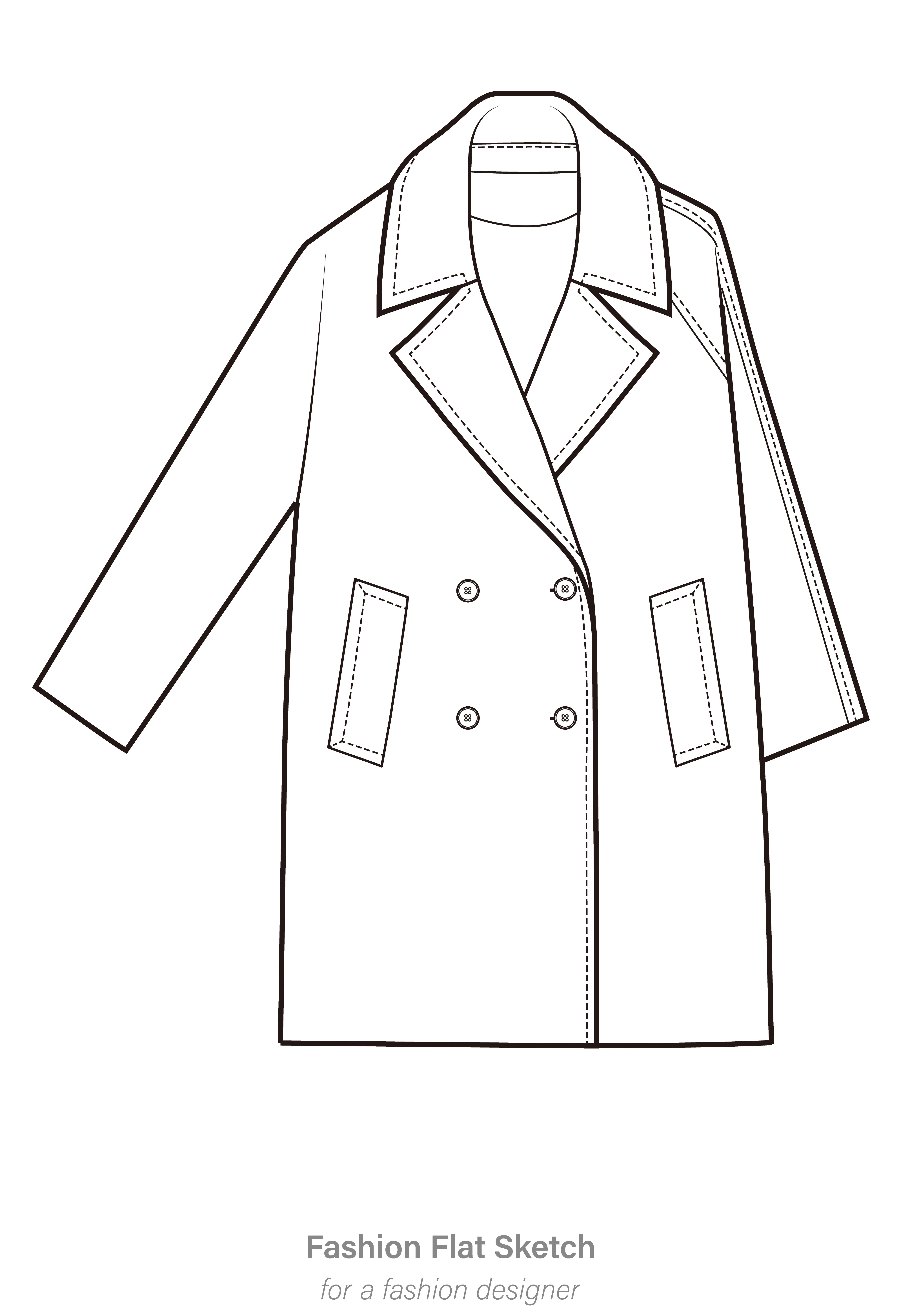 coat template free vector art