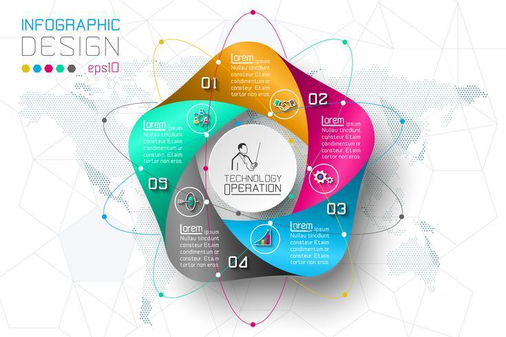Affärssteg alternativ och abstrakt infographics nummer alternativ mall.