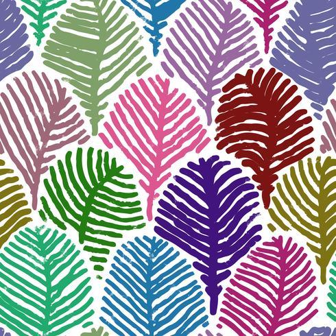 Plume colorée doodle dessin de fond transparente.