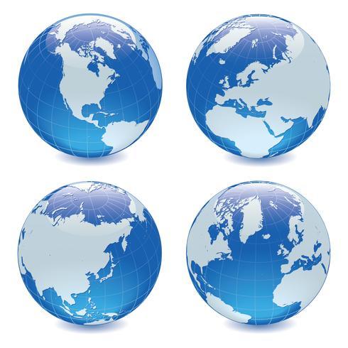 Plantilla del ejemplo del diseño del vector del mapa de la tierra del globo