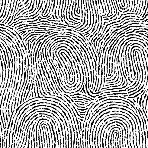 Impronta digitale senza cuciture su forma quadrata. vettore