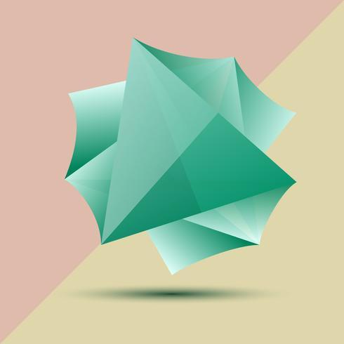 Astratte tre dimensioni su grafica vettoriale.