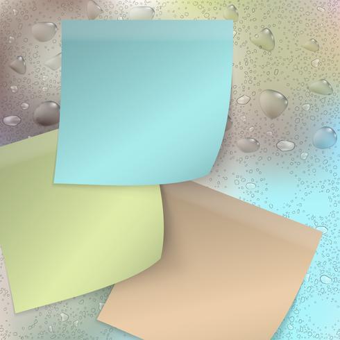 Colección de notas adhesivas de colores.