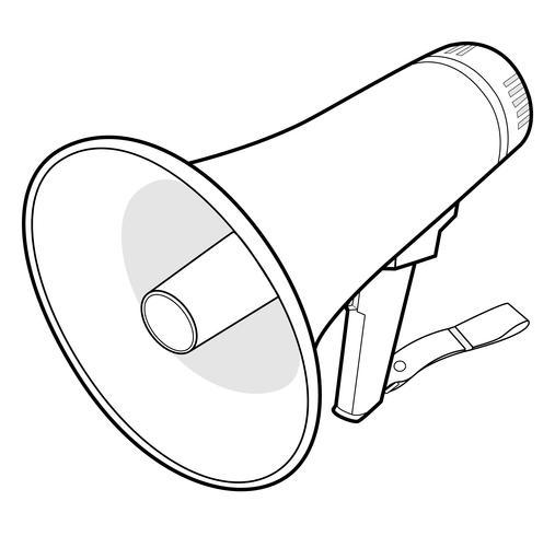 Plantilla de ilustración de diseño de vector de megáfono