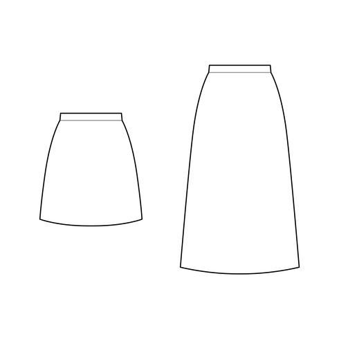 ROK Mode technische tekeningen vector sjabloon
