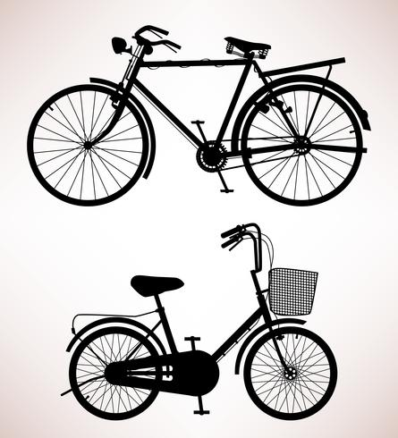 Old Bicycle Silhouette.