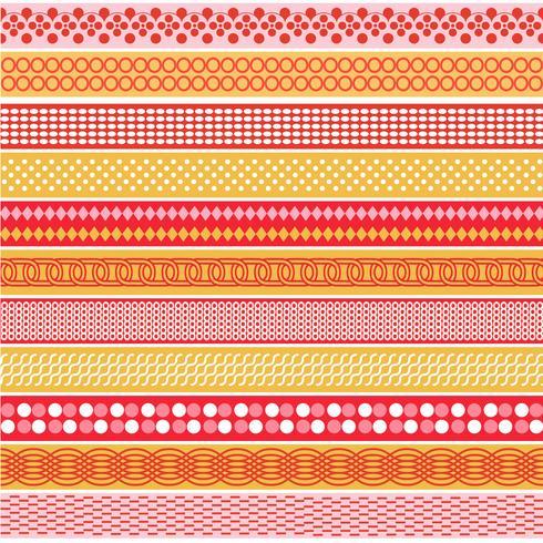 Pink & Orange Mod Border Patterns