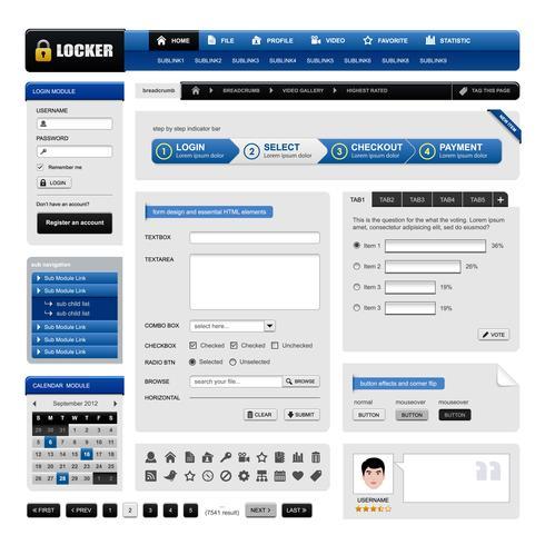 Web Design Website Element Vector. vector