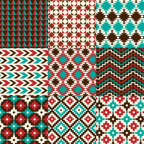 padrões geométricos nativos de amrican