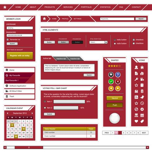 Web Design Element Template.  vector