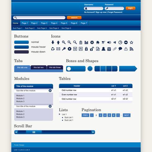 Web ontwerp element sjabloon.
