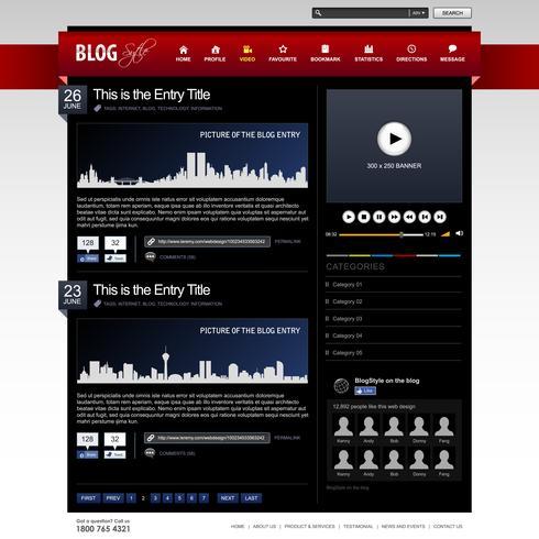 Modèle d'élément de site Web de conception Web.