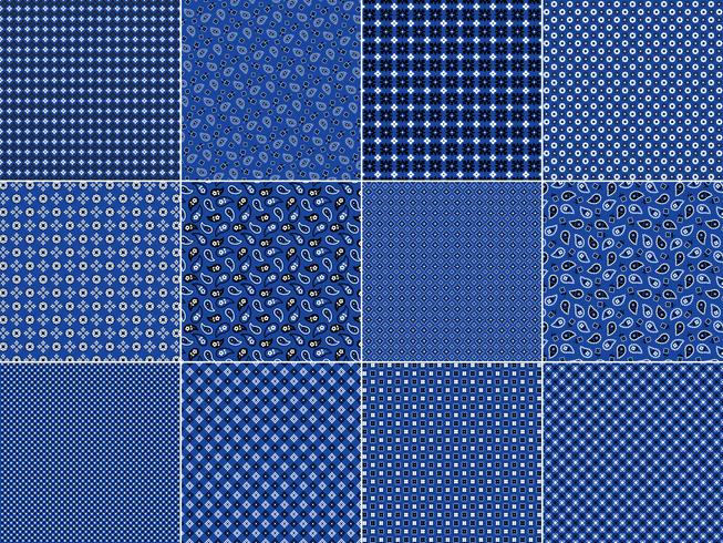 Blaue Bandana-Muster