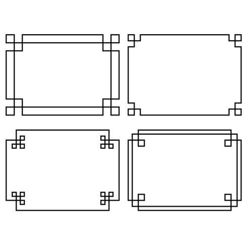 Marcos rectangulares negros