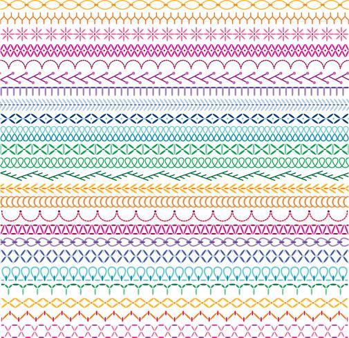 bordado puntada patrones de borde