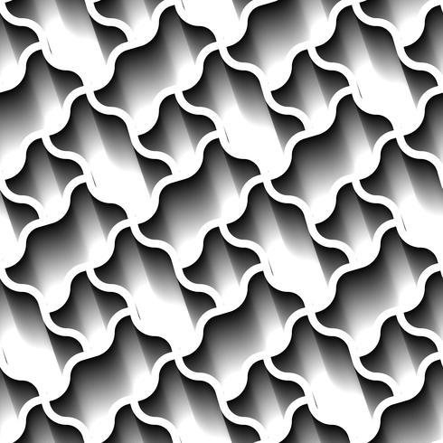 Seamless abstrakt geometriska mönster, prame gräns futuristiska tapeter, 3d grå kakel yta.
