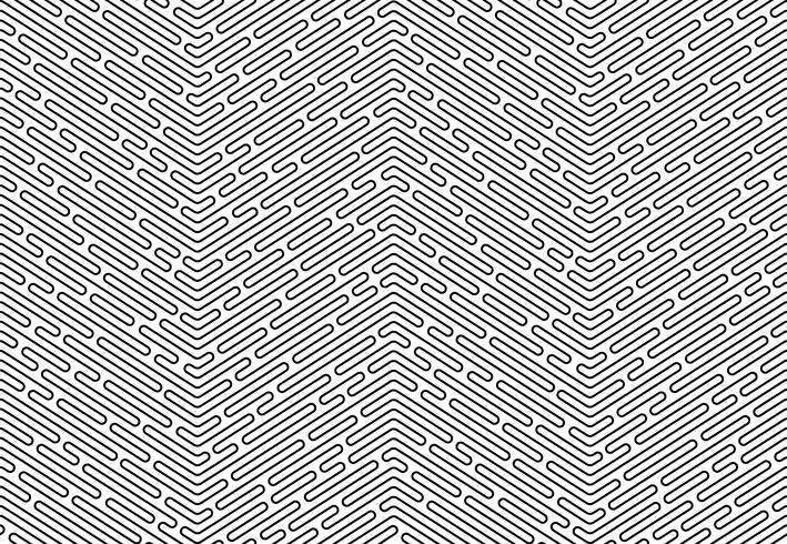 Fondo inconsútil del extracto monocromático del art déco del garabato con la línea del movimiento.