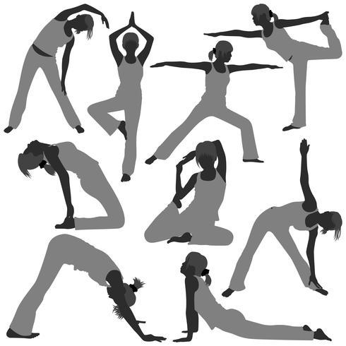 Poses de ioga vetor