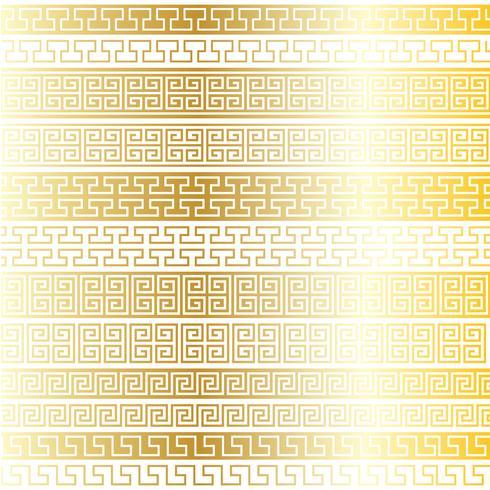 metallic gold fretwork border patterns