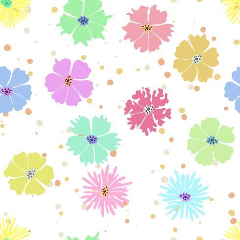 Fundo Sem Emenda Da Flor Colorida Com Desenho Da Mao Download
