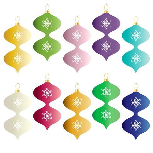 gli ornamenti variopinti di Natale vector il clipart di pendenza