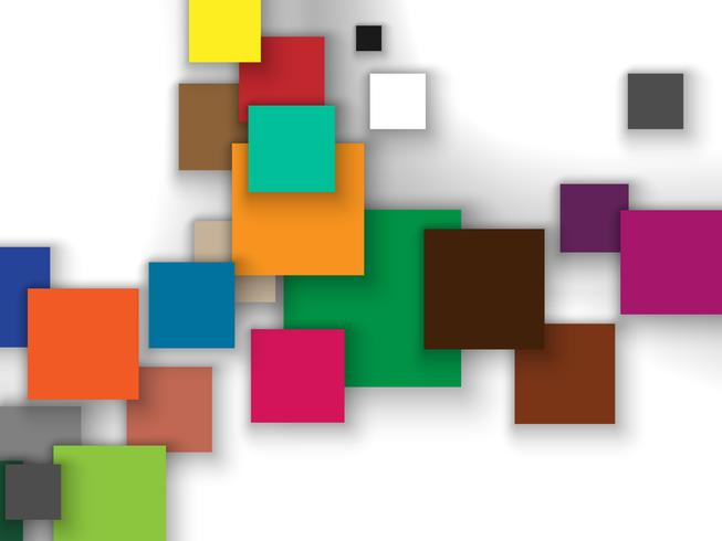 Colorful squares abstract background. vector